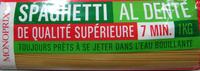 Spaghetti (Al dente 7min.) - Product - fr