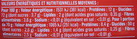 Spaghetti (Al dente 7min.) - Nutrition facts - fr