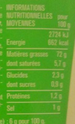 Mayonnaise Nature - Informations nutritionnelles