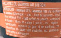 Rillettes de saumon au citron - Ingrédients - fr