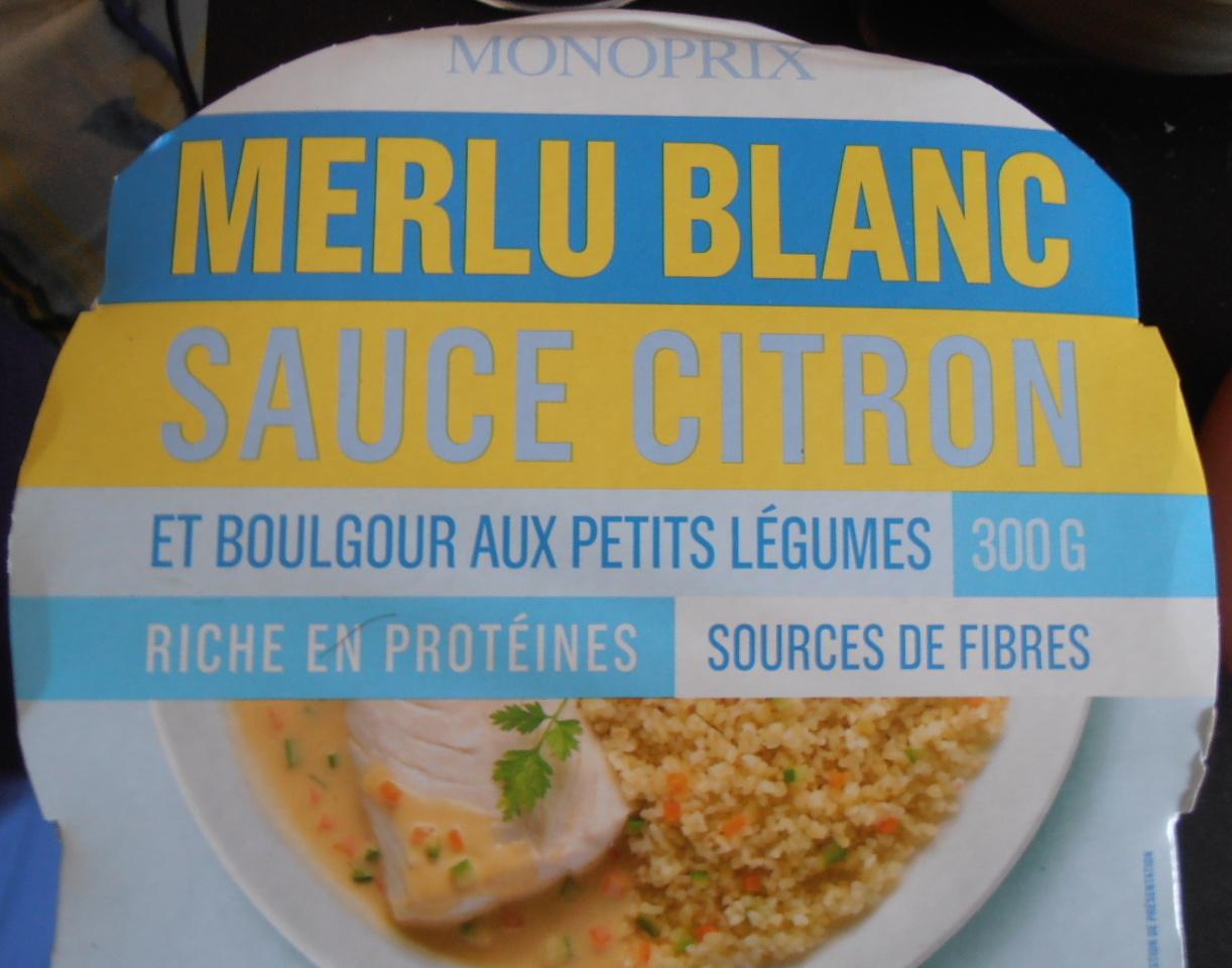 Merlu Blanc Sauce Citron et Boulgour aux Petits Légumes - Produit - fr