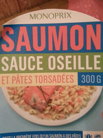 Pâtes torsadées et saumon, sauce oseille - Product