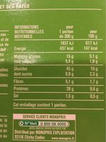 Pâtes torsadées et saumon, sauce oseille - Nutrition facts