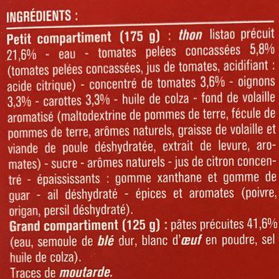 Thon à la Tomate et Penne Rigate - Ingrédients - fr