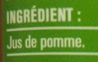 Jus de pomme - Ingrediënten