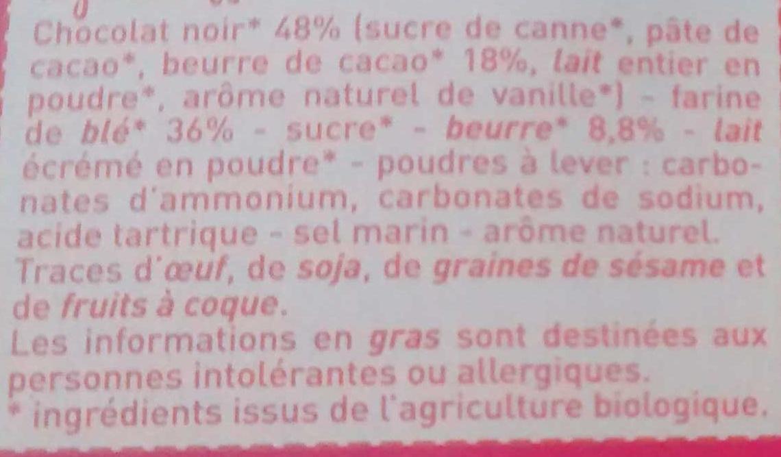 Petit Beurre 48 % de Chocolat Noir - Ingrédients
