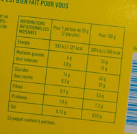 Petit beurre Au chocolat noir - 营养成分 - fr