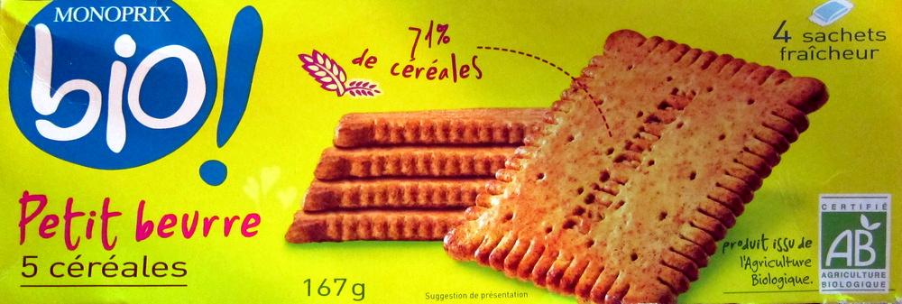 Petit beurre 5 céréales - Produit