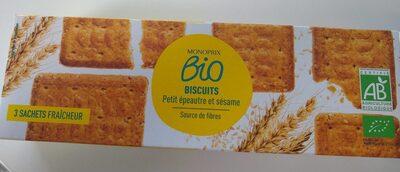 Biscuits petit épeautre et sésame - Produit - fr