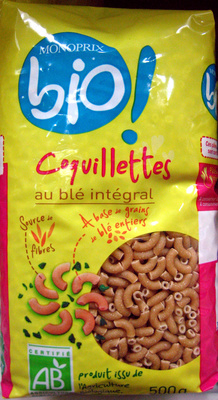 Coquillettes au blé intégral Bio - Produit