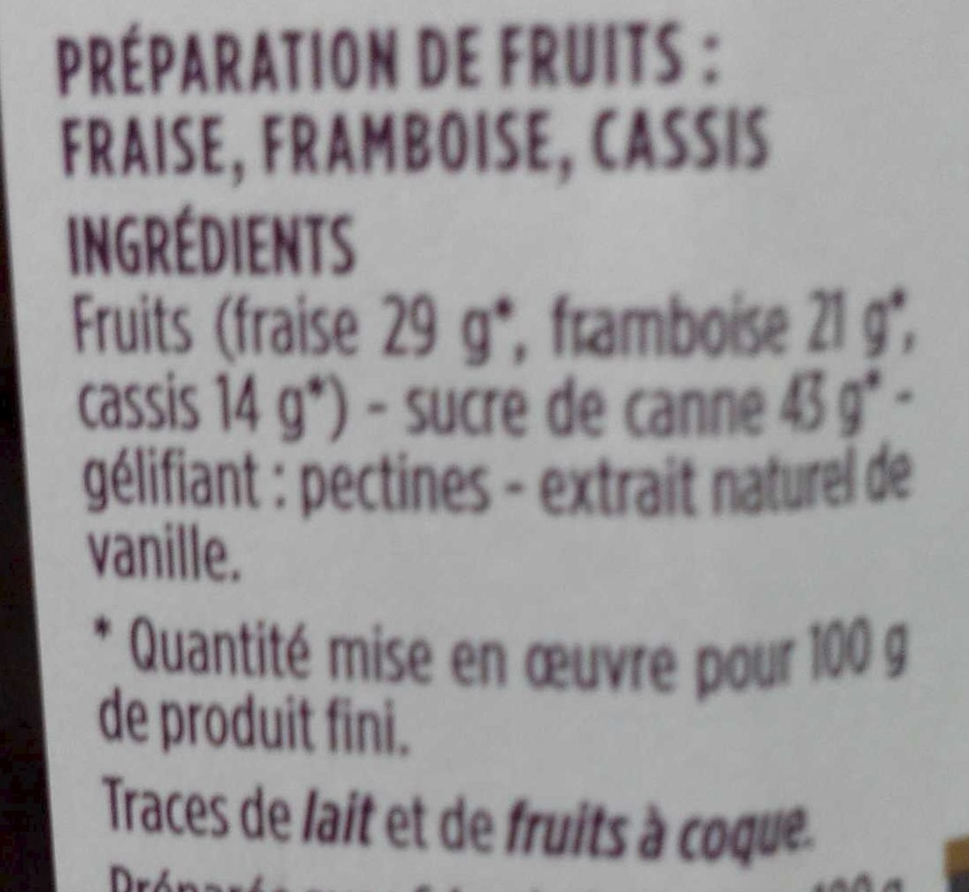 Cœur de fruitd cuits au chaudron - Ingredients - fr