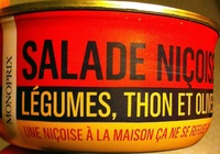 Salade Niçoise (Légumes, Thon et Olives) - Produit
