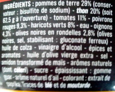 Salade Niçoise (Légumes, Thon et Olives) - Ingrédients