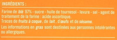Biscottes - Ingrédients - fr