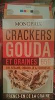 Crackers Gouda et graines (Lin, sésame, citrouille & tournesol) - Produit - fr