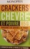 Crackers chèvre et poivre parsemés de graines de pavot - Produit