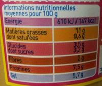 Moutarde de Dijon Bio - Voedigswaarden