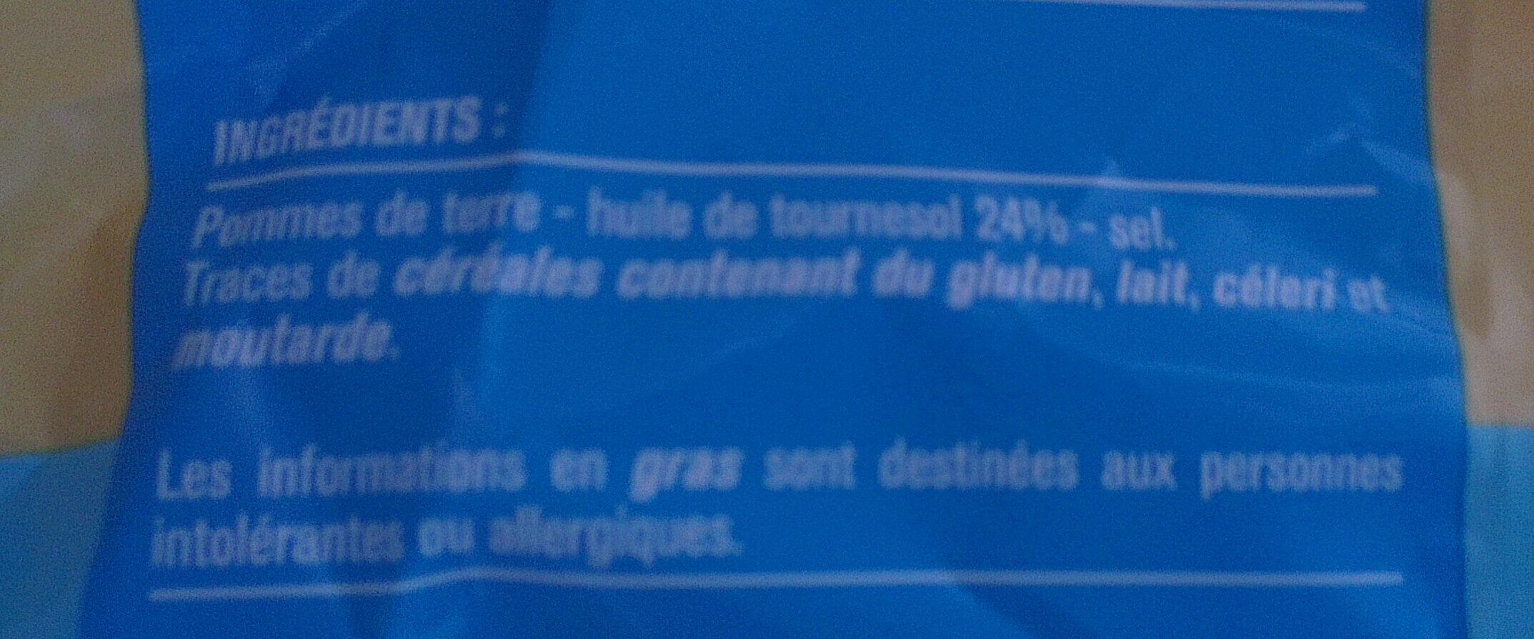 Chips allégées nature - Ingredients