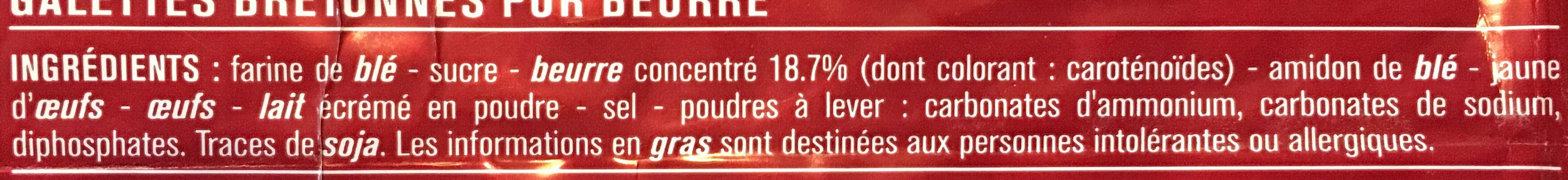Galettes bretonnes pur beurre - 成分 - fr