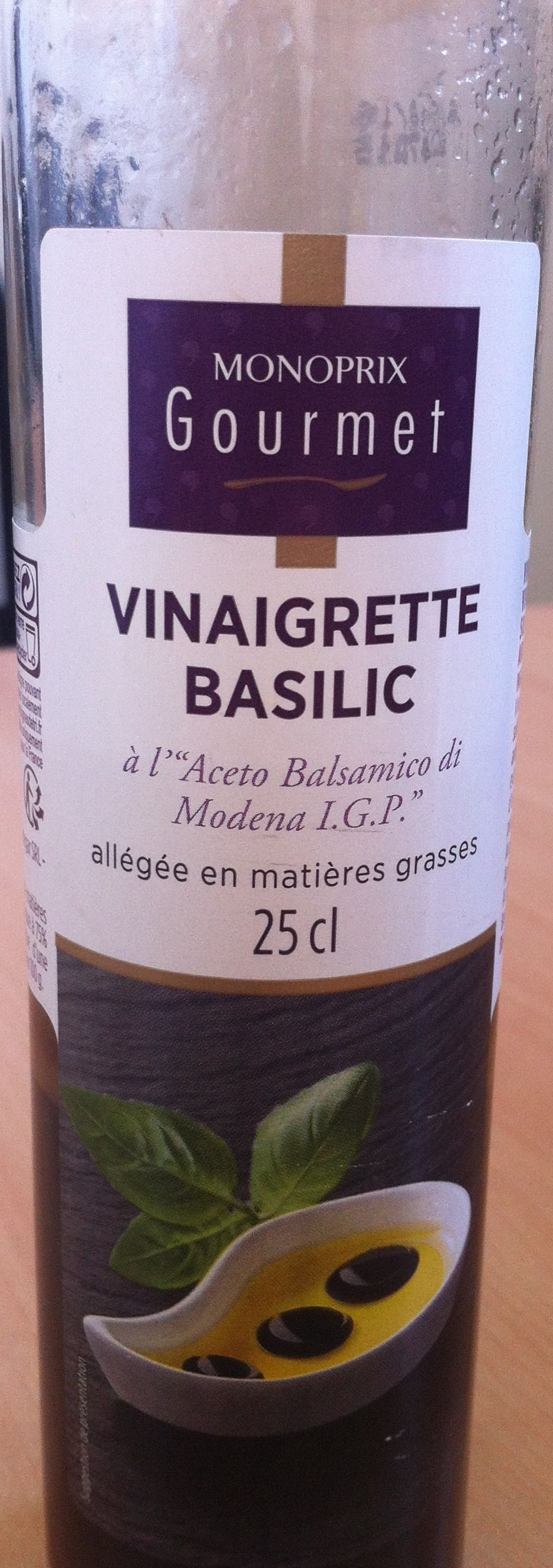 Vinaigrette basilic - Product - fr