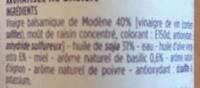 Vinaigrette basilic - Ingredients - fr