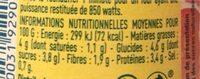 Sauce pour pâtes - Bolognaise - Valori nutrizionali - fr
