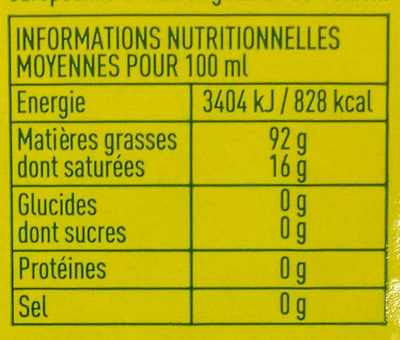 Huile d'olive vierge extra - Nutrition facts