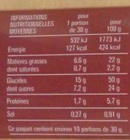 Marbré au chocolat - Nutrition facts - fr