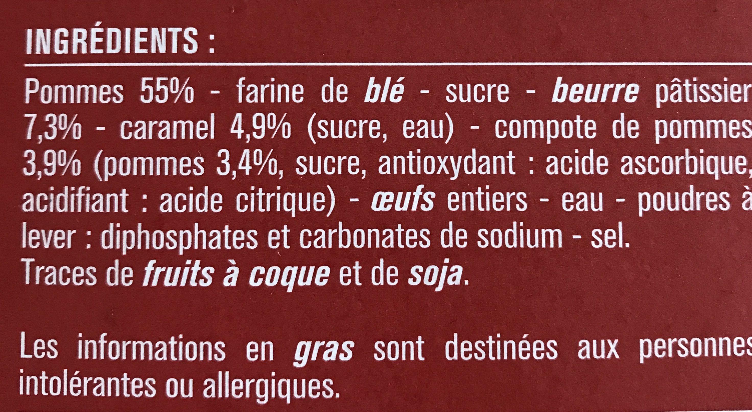 Tarte Tatin, déjà cuite - Ingrédients - fr