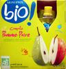 Compote Pomme-poire Bio Monoprix - Product