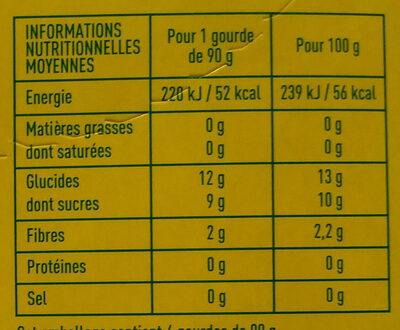 Compote Pomme-poire Bio Monoprix - Nutrition facts