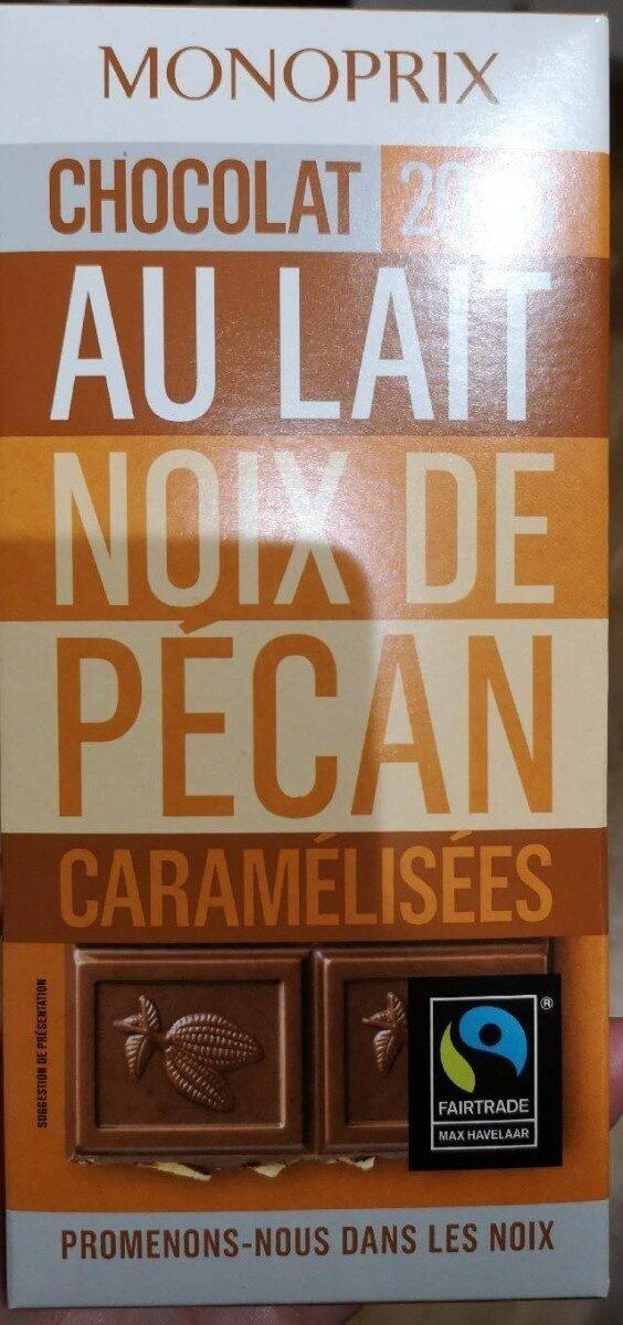 Chocolat au lait et aux morceaux de noix de pécan caramélisées - Produit - fr