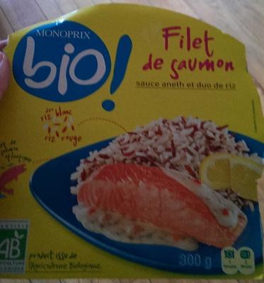 Filet de Saumon sauce Aneth et Duo de Riz - Produit - fr