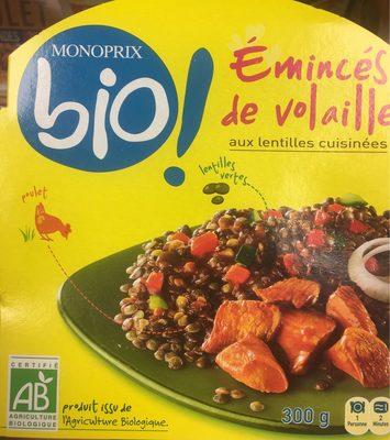 Emincés de volaille aux lentilles cuisinées - Product