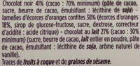Orangettes au chocolat noir - Ingrédients - fr