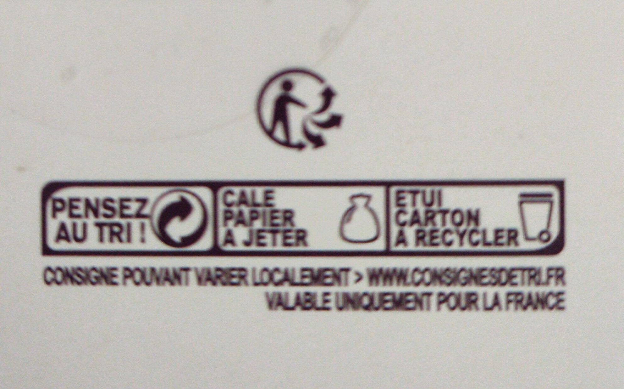 Orangettes au chocolat noir - Instruction de recyclage et/ou informations d'emballage - fr
