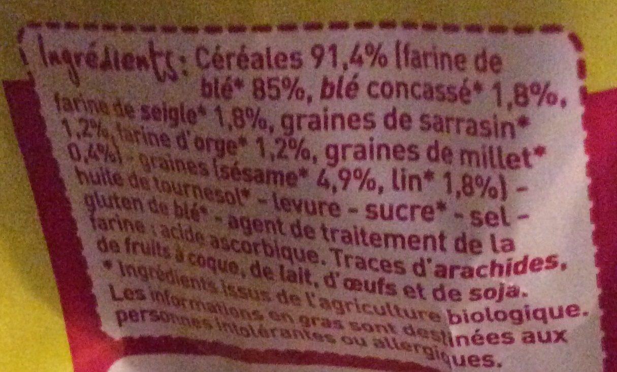 Petits pains grillés multi céréales Bio Monoprix - Ingrédients - fr