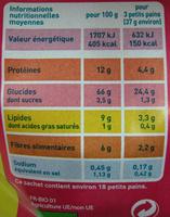 Petits pains grillés multi céréales Bio Monoprix - Informations nutritionnelles - fr