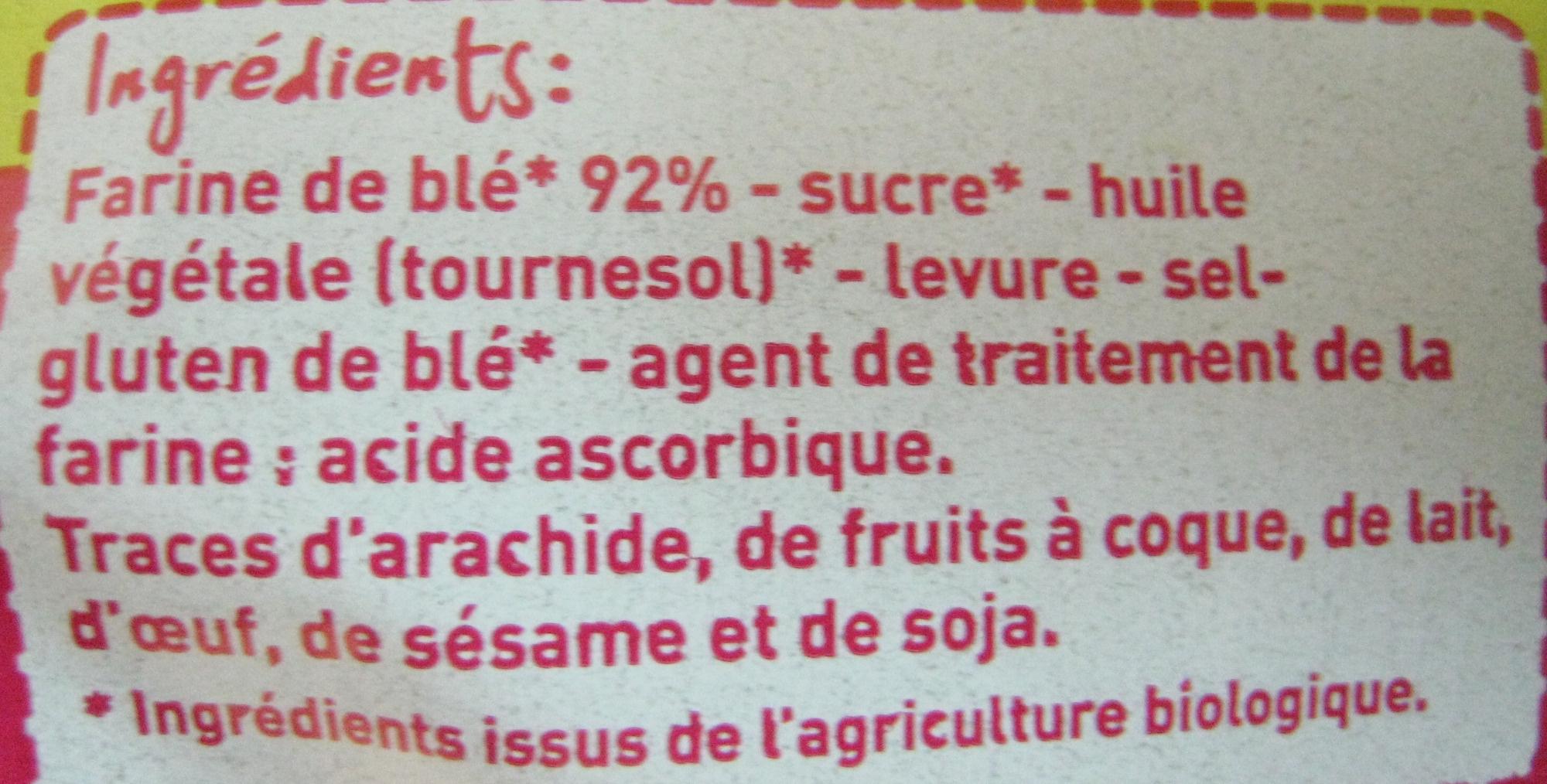 Petits pains grillés au froment Bio Monoprix - Ingrediënten - fr