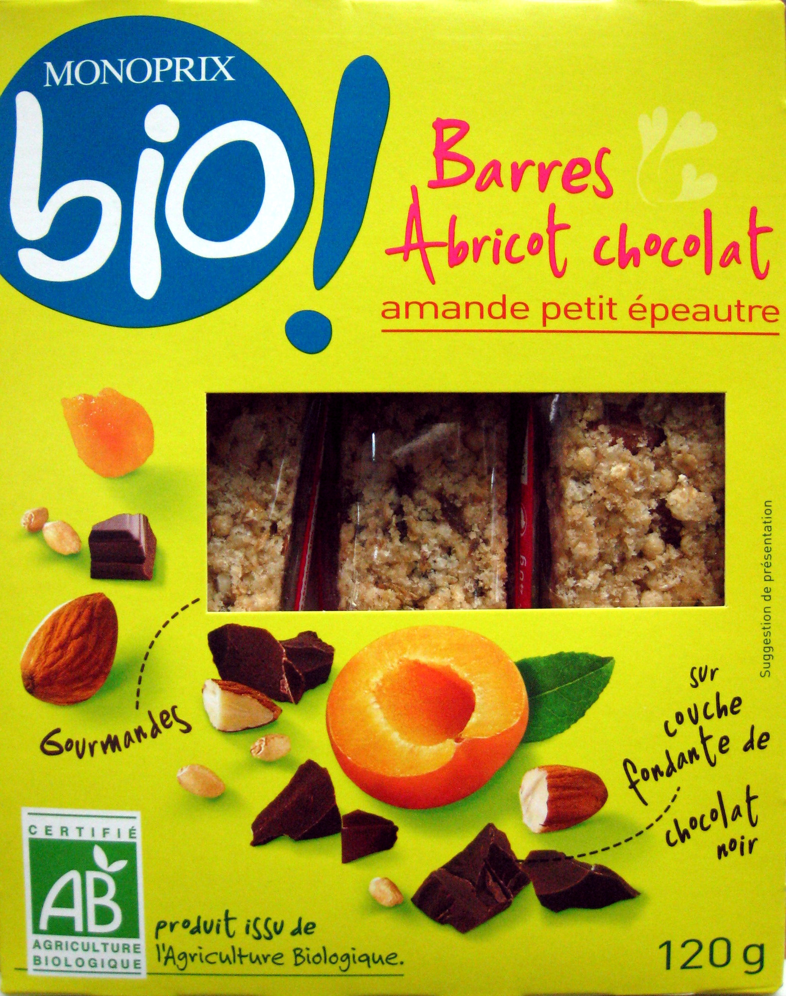 Barres Abricot Chocolat - Produit