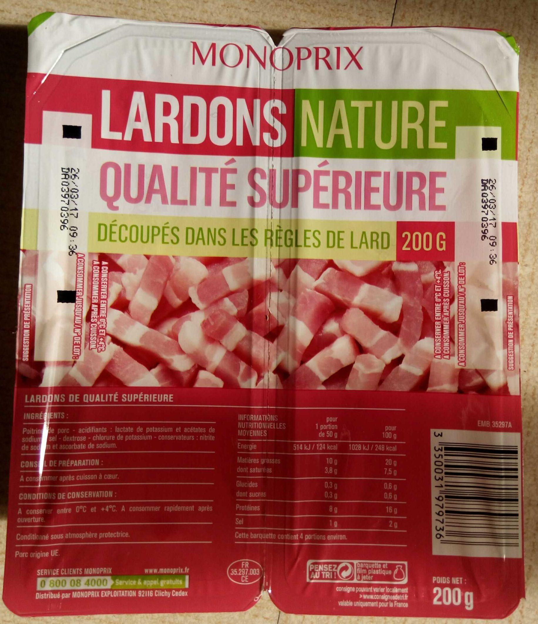 Lardons nature qualité supérieure - Product - fr