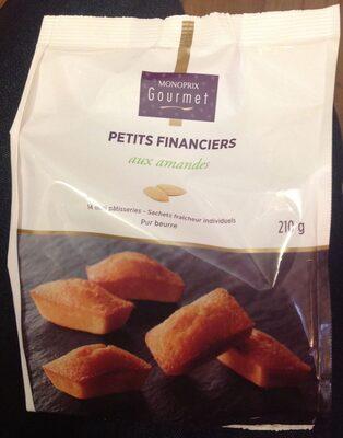 Petits financiers aux amandes - 14 mini pâtisseries - Produit