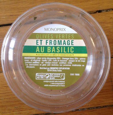 Olives vertes et fromage au basilic - Product