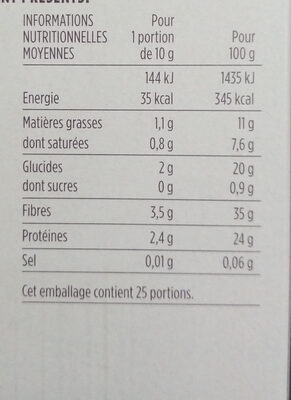 Poudre de Cacao Maigre - Nutrition facts - fr