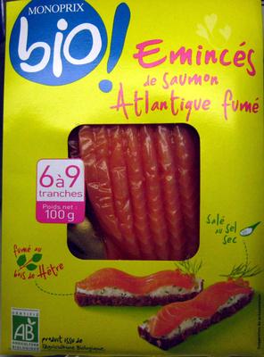 Emincés de saumon Atlantique fumé Bio (6 à 9 tranches) - 100 g - Product