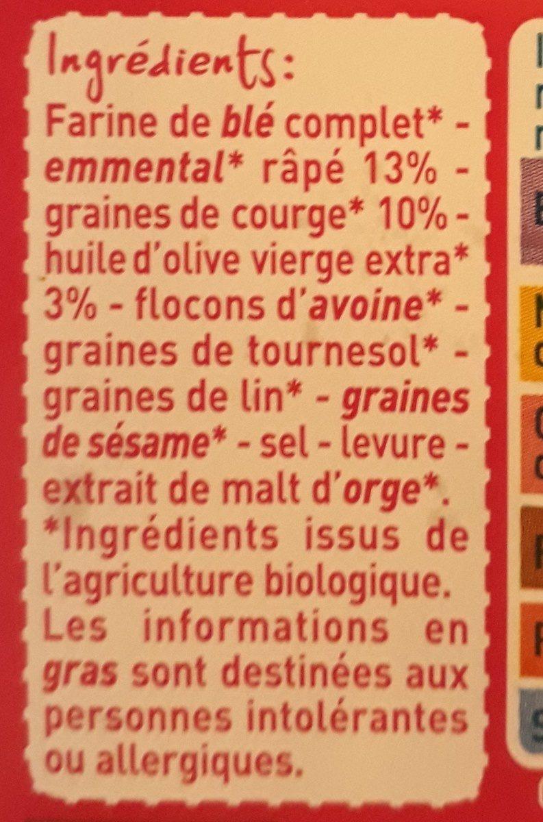 Toast croustillant au fromage et graines de courge - Ingrediënten - fr