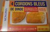 4 Cordons Bleus de Dinde, Surgelés - Produit
