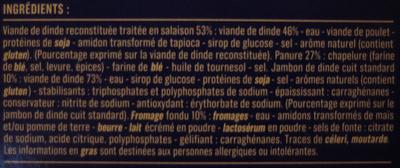 4 Cordons Bleus de Dinde, Surgelés - Ingrédients - fr