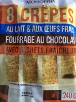 Crêpes fourrées au chocolat, au lait frais, sans conservateur - Product - fr