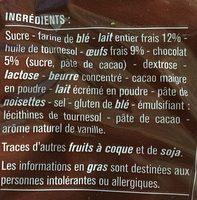 Crêpes fourrées au chocolat, au lait frais, sans conservateur - Ingrediënten - fr